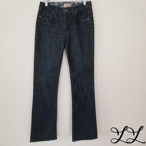 Paige Jeans Dark Wash Rising Glen High Rise Boot
